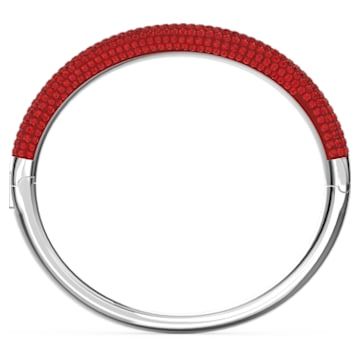 Tigris bangle, Red, Rhodium plated - Swarovski, 5611186