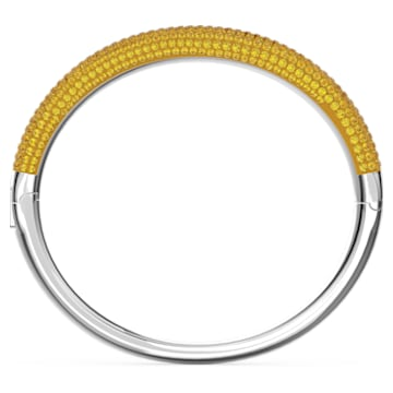 Tigris bangle, Yellow, Rhodium plated - Swarovski, 5611188