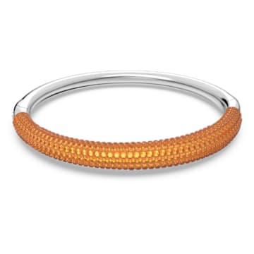 Tigris bangle, Orange, Rhodium plated - Swarovski, 5611191
