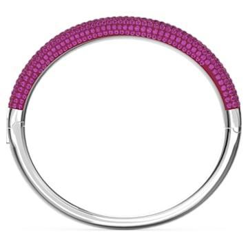 Tigris bangle, Pink, Rhodium plated - Swarovski, 5611192