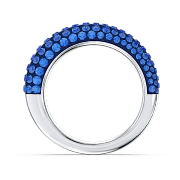 Tigris ring, Blue, Rhodium plated - Swarovski, 5611243