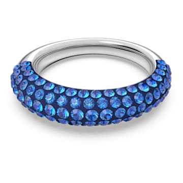 Tigris ring, Blue, Rhodium plated - Swarovski, 5611244
