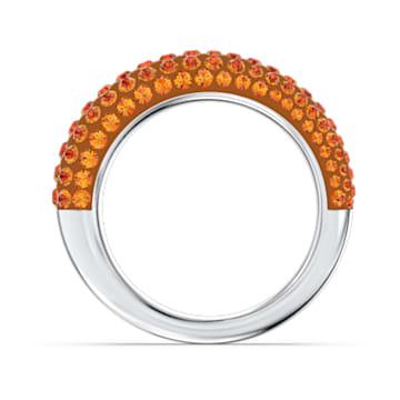 Tigris ring, Orange, Rhodium plated - Swarovski, 5611250