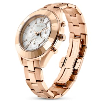 Octea Lux Sport 腕表, 金属手链, 白色, 玫瑰金色调 PVD - Swarovski, 5612194