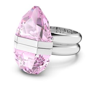 Lucent ring, Magnetic, Pink, Rhodium plated - Swarovski, 5613558
