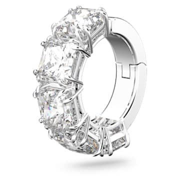 Millenia 耳骨夹, 单个, 正方形切割仿水晶, 白色, 镀铑 - Swarovski, 5613641