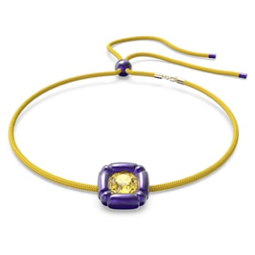 Dulcis 项链, 枕形切割仿水晶, 紫色 - Swarovski, 5613645