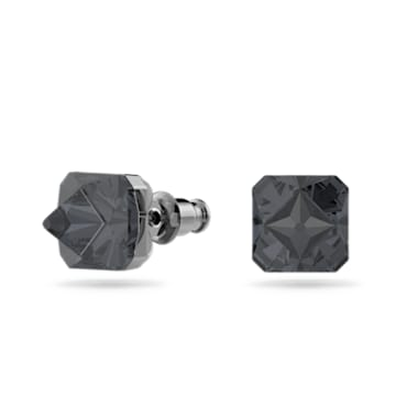 Chroma 耳钉, 金字塔形切割仿水晶, 灰色, 镀钌 - Swarovski, 5613723