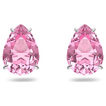Gema 耳钉, 粉红色, 镀铑 - Swarovski, 5614455