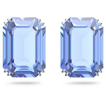 Millenia 耳钉, 八角形切割仿水晶, 蓝色, 镀铑 - Swarovski, 5614935