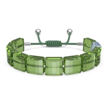 Letra 手链, 幸运草, 绿色, 镀铑 - Swarovski, 5614970