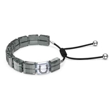 Letra 手链, 马蹄铁, 灰色, 镀铑 - Swarovski, 5615000