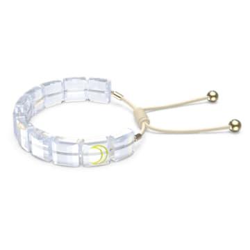 Letra 手链, 月亮, 白色, 镀金色调 - Swarovski, 5615863