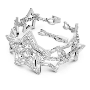 Stella 手链, 星星, 白色, 镀铑 - Swarovski, 5617880