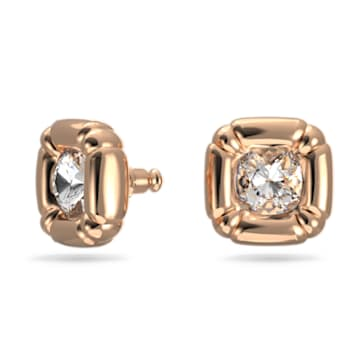 Dulcis 耳钉, 枕形切割仿水晶, 玫瑰金色调 - Swarovski, 5617910