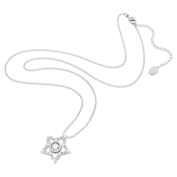 Wisiorek Stella, Biały, Powłoka z rodu - Swarovski, 5617919