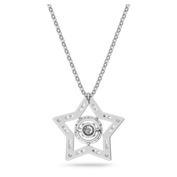 Stella pendant, White, Rhodium plated - Swarovski, 5617919