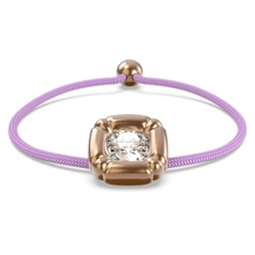 Dulcis 手链, 枕形切割仿水晶, 紫色, 镀铑 - Swarovski, 5617983