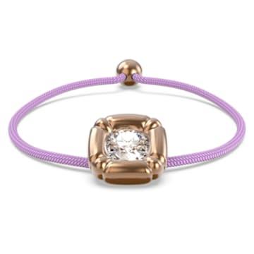 Dulcis bracelet, Cushion cut crystals, Purple, Rhodium plated - Swarovski, 5617983