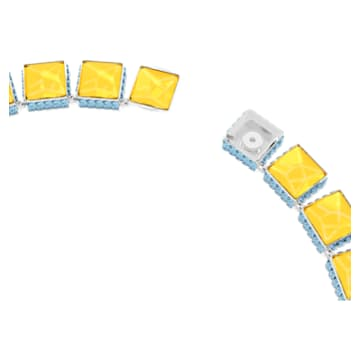Orbita necklace, Square cut crystals, Multicolored, Rhodium plated - Swarovski, 5618252