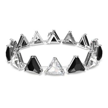 Millenia 手链, 三棱形切割仿水晶, 黑色, 镀铑 - Swarovski, 5619154