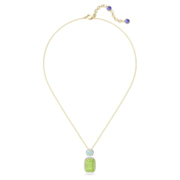Orbita 项链, 八角形切割仿水晶, 流光溢彩, 镀金色调 - Swarovski, 5619787