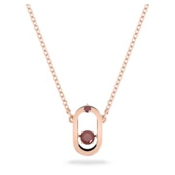 North pendant, Red, Rose gold-tone plated - Swarovski, 5620550