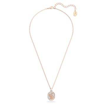 Signum pendant, Swan, White, Rose-gold tone plated - Swarovski, 5621106