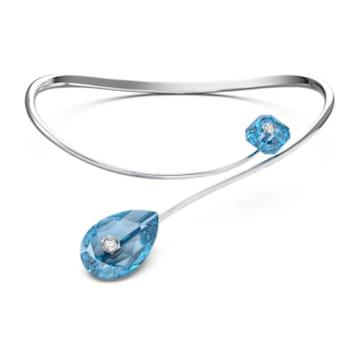 Numina 项链, 蓝色, 镀铑 - Swarovski, 5625314