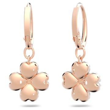 Latisha 穿孔耳环, 白色, 镀玫瑰金色调 - Swarovski, 5627353