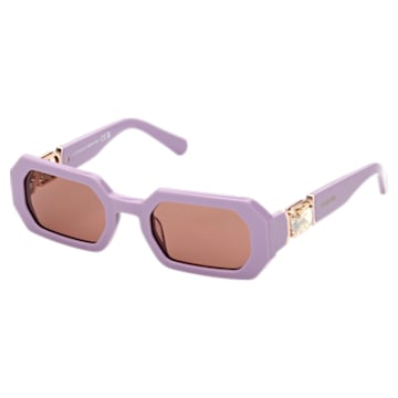 MIL002 sunglasses, Octagon, Purple - Swarovski, 5627869