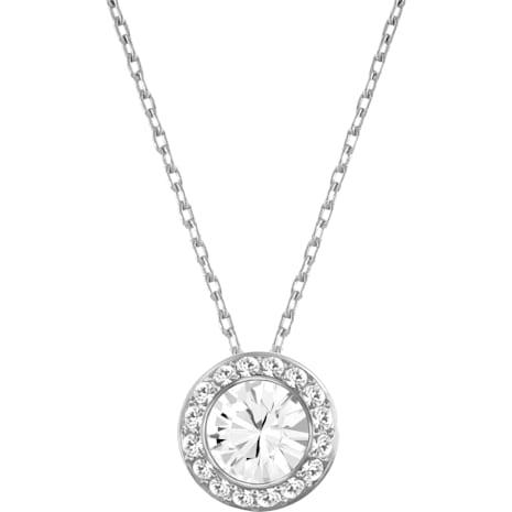 Angelic Pendant, White, Rhodium plating - Swarovski, 1081938