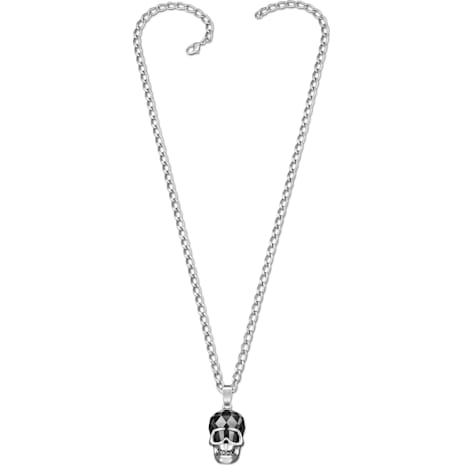 N The Skull Pendant, Black, Ruthenium plated - Swarovski, 1111588