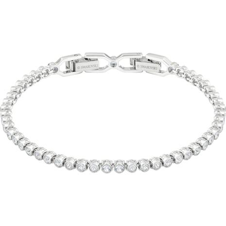 Bracelet Emily, blanc, Métal rhodié - Swarovski, 1808960