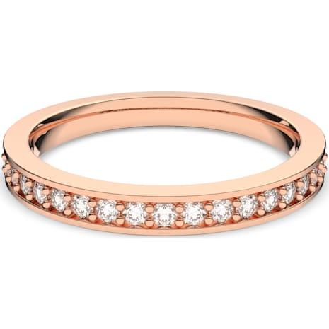 Rare Ring, White, Rose-gold tone plated - Swarovski, 5032900