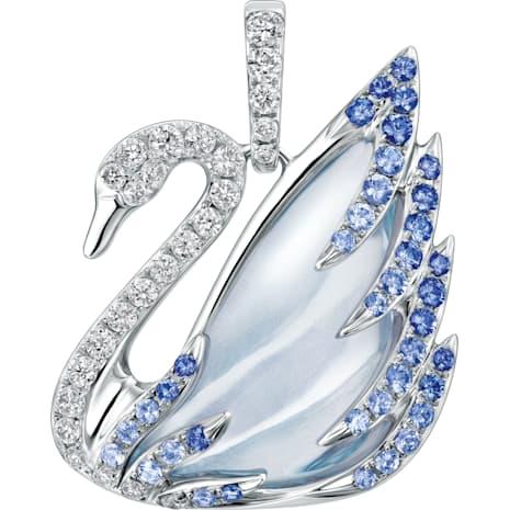 Faithful Swan Pendant, Blue - Swarovski, 5036321