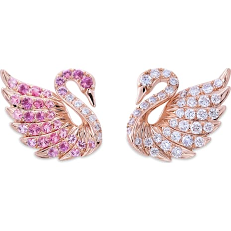 Double Swans Earrings - Swarovski, 5036325