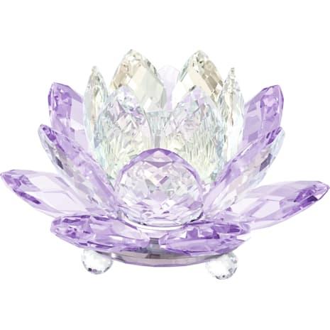 Waterlily Candleholder , Violet - Swarovski, 5066011