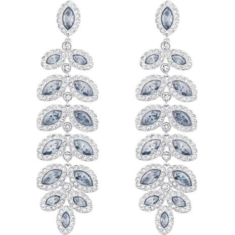 Boucles d'oreilles Baron, bleu, Métal rhodié - Swarovski, 5074350