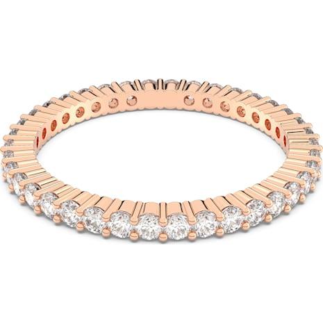 Vittore Ring, White, Rose-gold tone plated - Swarovski, 5083129