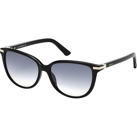 Edith Sunglasses, SK0077-F 01B, Black - Swarovski, 5126353