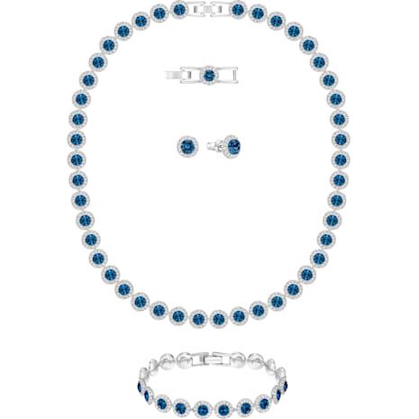 Angelic All Around Set, Blue, Rhodium Plating - Swarovski, 5166808