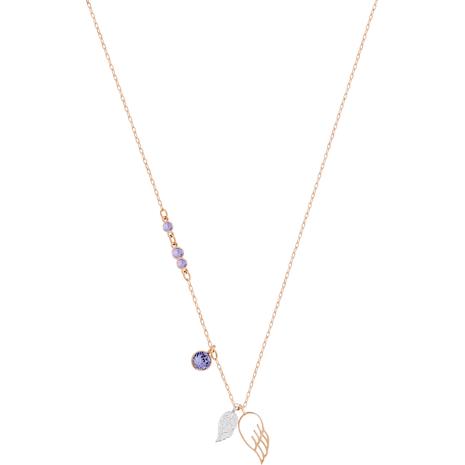Swarovski Symbolic Wing Pendant, Violet, Mixed metal finish - Swarovski, 5171264