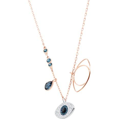 Swarovski Symbolic Evil Eye Anhänger, blau, Metallmix - Swarovski, 5172560