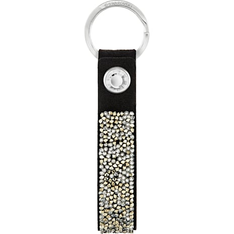 Porte-clés Glam Rock, noir, acier inoxydable - Swarovski, 5174947