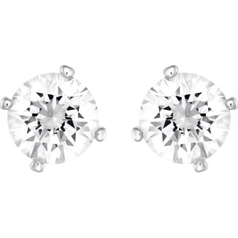 Boucles d'oreilles Attract Pearl, blanc, Métal rhodié - Swarovski, 5183618
