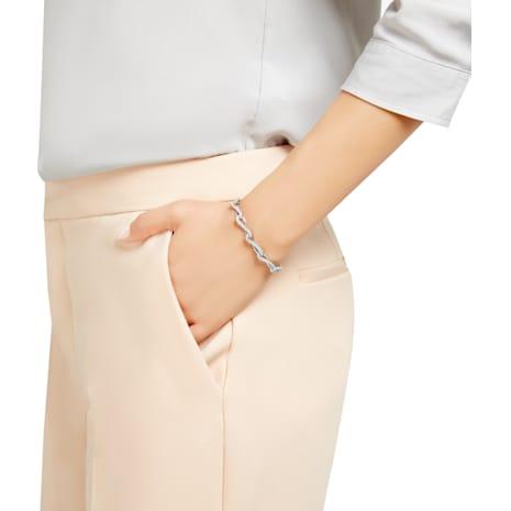 Eleanor Bracelet, White, Rhodium plated - Swarovski, 5186147