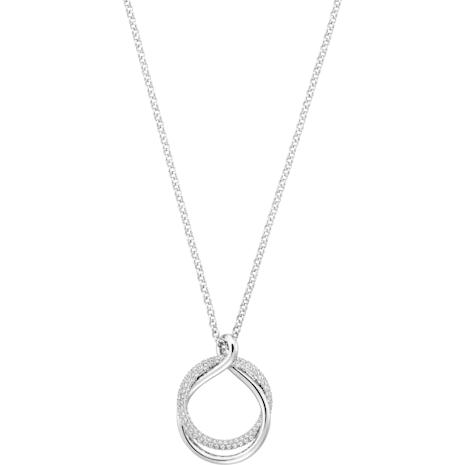 Exact Pendant, White, Rhodium plating - Swarovski, 5194452