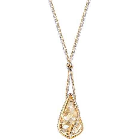 Colgante Energic, dorado, Combinación de acabados metálicos - Swarovski, 5195924