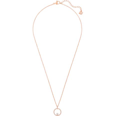 Colgante Creativity Circle, blanco, Baño en tono Oro Rosa - Swarovski, 5202446